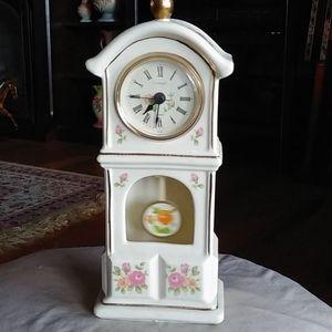 Beautiful porcelain miniature grandfather clock